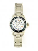 Del Mar 50290 Womens 200 Meter Sport Watch Classic Stainless Steel Nautical Dial