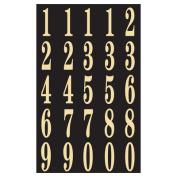 Hy-ko MM-3N 2 in. Black & Gold Self-Stick Numbers