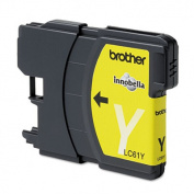 for Brother LC61Y Ink 500 Page-Yield Yellow