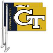 Bsi Products 97049 Car Flag W/Wall Brackett - Georgia Tech Yellow Jackets