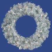 Vickerman B882325 24 in. Silver Wreath
