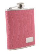 Visol VF2026 Splendid Pink Leather Stainless Steel 180ml Hip Flask