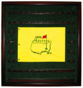 Powers Collectibles MASTERSFLAGMGWEB239x254 Masters Flag with 52 Golf Ball Display Case- 99911334