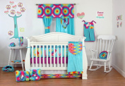 One Grace Place 10-34102 Terrific Tie Dye Infant 4 Piece Crib Bedding Set