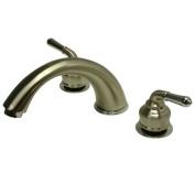 Kingston Brass KC367 8 Inch -18 Inch Widespread Roman Tub Filler - Satin Nickel-Polished Chrome