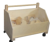 Beka 06201 Kids Wooden Toy Chest On Wheels