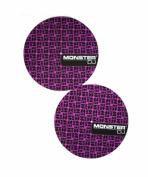 MONSTER LLC DJMATT A pair of quality felt lined Slip Mats with the Monster Logo