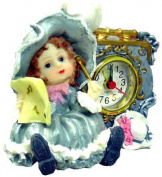 Barjan 1256138 GIRL MUSICIAN CLOCK