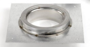 Chimney 77847 8 in. Superpro Adaptor Plate- Galvanized With Stainless Collar