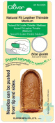 Clover 87056 Natural Fit Leather Thimble Medium-
