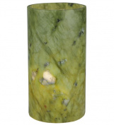 Meyda Tiffany 121502 3.4 in. W x 6.5 in. H Jadestone Green Flat Top Candle Cover