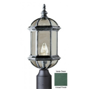 Trans Globe Lighting 4186 VG 1 Light Post Lantern - VERDE GREEN