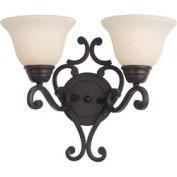 Maxim Lighting 12212FIOI Manor 2-Light Wall Sconce - Oil Rubbed Bronze