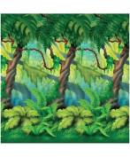 Group Cross Culture Jungle Trees Plastic Backdrop