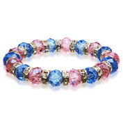 Alexander Kalifano BLUE-BGG-08 Gorgeous Glass Bracelets - Purple and Blue