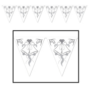 Beistle 57724 Wedding Bells Pennant Banner