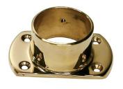 Hardware Distributors L00 531 2 5.1cm . Cut Wall Flange - Polished Brass