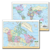 Universal Map 0762564075 Canada and World Notebook Map