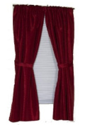 Carnation Home Fashions SWC-L/20 Lauren 34 in. x 54 in. Dobby Fabric Window Curtain - Burgundy
