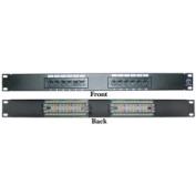 CableWholesale 69BK-06012 Rackmount 12 Port Cat 6 Patch Panel Horizontal 110 Type 568A 568B Compatible 1U