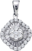 Gold and Diamonds PWW1012-W 0.80CT-DIA FLOWER PENDANT- Size 7