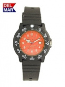 Del Mar 50507 Womens Dive 200 Orange Dial PU Watch