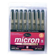 Sakura 30068 8-Piece Pigma Micron Assorted Colours 01 Ink Pen Set