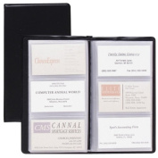 Cardinal Brands- Inc CRD751610 Card Holder- Business- 72-Card Cap- 7-.190cm .x4-.100cm .- Vinyl- Black