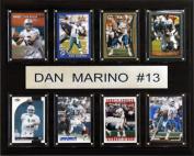 C & I Collectables 1215MARINO8C NFL Dan Marino Miami Dolphins 8 Card Plaque