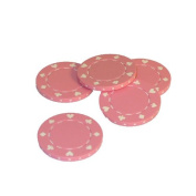 WorldWise Imports 35114 Pink Suited Poker Chips - Roll of 50
