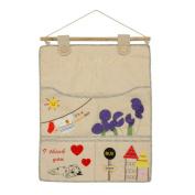 Blancho Bedding WH-LJF018-1 Sleeping Dog Ivory/Wall Hanging/Wall Organizers/Wall Pocket/ Hanging Baskets