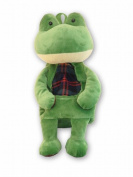 38cm Tall . Plush Frog Backpack Carrying Case for Small Children