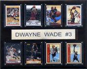 C and I Collectables 1215DWADE8C NBA Dwyane Wade Miami Heat 8 Card Plaque