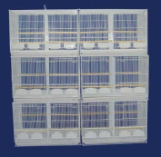 YML 6x2434WHT Lot of Six Small Bird Breeding Cages with Divider