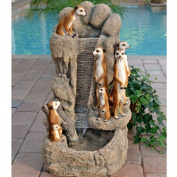 Design Toscano T53 KY1012 Meerkat Family At The Watering Hole Garden Fountain