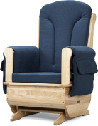 JONTI-CRAFT 8150JC JONTI-CRAFT GLIDER ROCKER with BLUE CUSHIONS