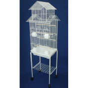 YML 17380cm Bar Spacing Tall Pagoda Top Bird Cage with Stand, 46cm x 36cm /Small, White