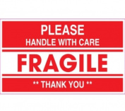 Ace Label 53048F 13cm . x 7.6cm . Please Handle With Care Fragile **Thank You**
