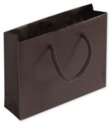 Bags & Bows by Deluxe 244M-050104-44 Chocolate Matte Laminated Mini Euro-Totes - Case of 200