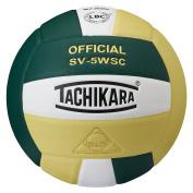 Tachikara SV5WSC.DGWVG Sensi-Tec Composite High Performance Volleyball - Dark Green-White-Vintage Gold