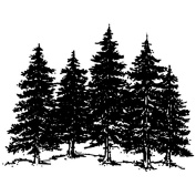 Art Impressions G689 Art Impressions Wilderness Series Cling Rubber Stamp-Large Forest