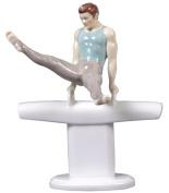 Unicorn Studios CP30003AA Pommel Horse Scissors Gymnastics Porcelain Sculpture
