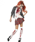 Smiffys USA 196668 Highschool Horror School Girl Adult Costume - Red - Large