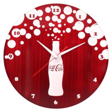 Coca-Cola Bursting Bubbles Wall Clock