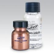 Mehron Makeup Metallic Powder .500ml with Mixing Liquid 30ml - Copper