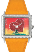 Arjang & Co PS-5002S-YL All Heart East West Yellow Strap