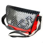 Blancho Bedding MB-S9003-RED Glitter Plaid - Red Multi-Purposes Messenger Bag / Shoulder Bag