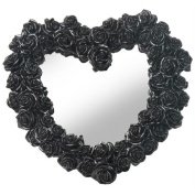 Unicorn Studios WU75888VB Heart Shape Rose Wreath Mirror - Black