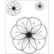 Heartfelt Creations 483639 Heartfelt Creations Cling Rubber Stamp Set 13cm . x 17cm . -Cameo Daisy Flowers 1