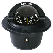 Ritchie F-50 Explorer Compass - Flush Mount - Black
